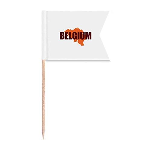 Belgien Europa Karte Brüssel Zahnstocher Flaggen Kennzeichnung für Party Kuchen Lebensmittel Käseplatte