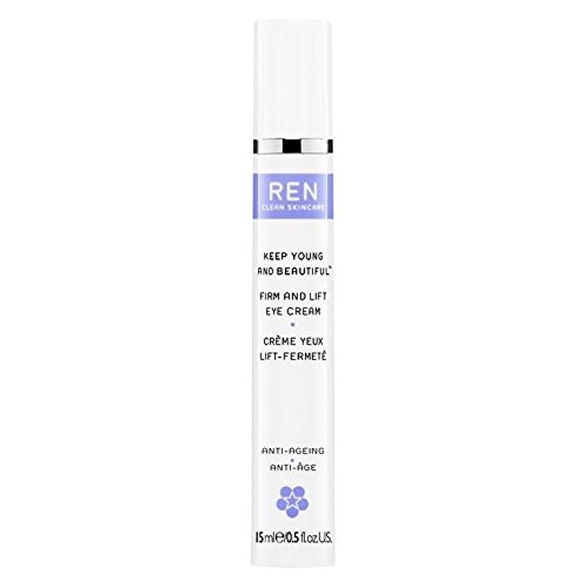 愛国的な信念夕食を食べるRen若くて美しい?しっかりとリフトアイクリーム15ミリリットルを保ちます (REN) (x6) - REN Keep Young and Beautiful? Firm and Lift Eye Cream 15ml (Pack of 6) [並行輸入品]