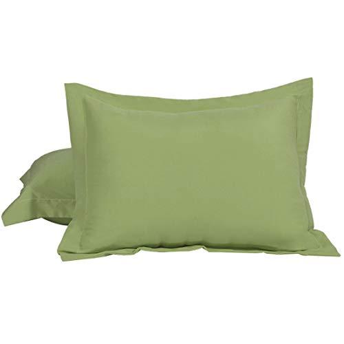uxcell Pillow Shams 2 Packs Soft Brushed Microfiber Pillowcases, Wrinkle, Fade, Stain Resistant Boudoir(12'x16') SageGreen