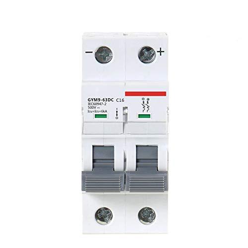 LUOXUEFEI Disyuntor Diferencial Interruptor Disyuntor Dc 6Ka 2P 500V Dc 6A 10A 16A 20A 25A 32A 40A 50A 63A