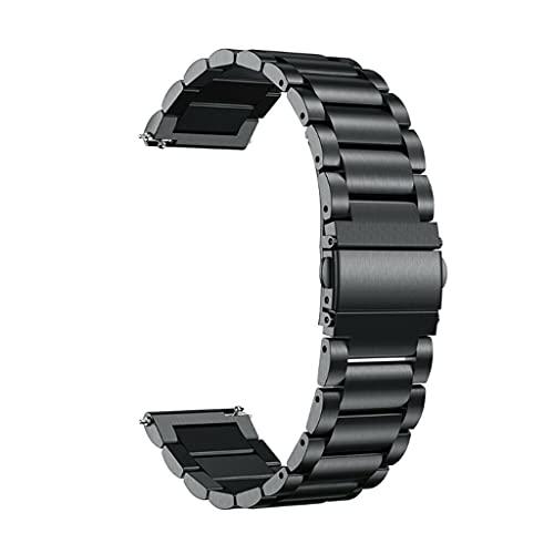 Meipai Klassisches Metall-Edelstahl-Armband, kompatibel mit Oneplus Uhrenarmband One Plus Smartwatch, Ersatzband