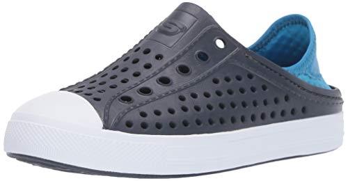 Skechers Kids Boys' Cali Gear Guzman Stepz Sneaker, Navy/Blue, 11 Medium US Little Kid