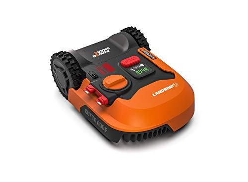 Worx Tagliaerba Robot da Giardino Landroid WR141E, Rasaerba Elettrico a Batteria 20 V, Tosaerba 3 Lame Mobili, Comando Wi-Fi