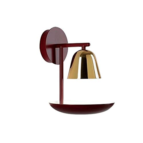 Baska Moderne 5W LED Metall Wandleuchten Schatten Indoor Kreative Einfache Nordische Wand Leinwand Beleuchtung Wandlampe Leuchte für Nachts Schlafzimmer Wohnzimmer lesen, E14...