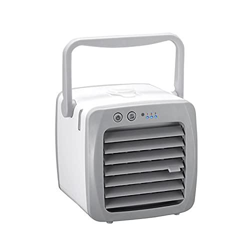 RHSMW Mini Aire Acondicionado, con Acondicionador De Aire Pequeño De La Humedad De La Humedad del Aire De La Humedad De Tres Velocidades De Tres Velocidades, Adecuado para El Automóvil,Blanco