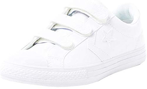Converse Lifestyle Star Player Ev 3V Ox, Zapatillas Unisex niño, Blanco (White/White/White 100), 30 EU