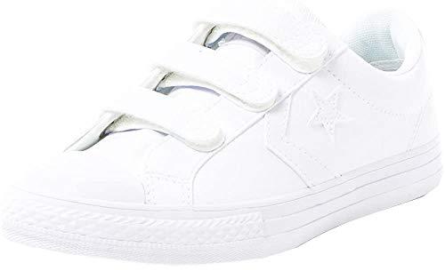 Converse Lifestyle Star Player Ev 3V Ox, Zapatillas Unisex niño, Blanco (White/White/White 100), 28 EU