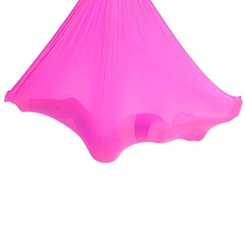 LHHL Hamaca para Aeroyoga Columpio Resistente De Nylon Color Azul Hamaca De Yoga Accesorio De Entrenamiento De Fitness Pilates Silk Yoga (Color : Pink, Size : 500x280cm/197x110in)