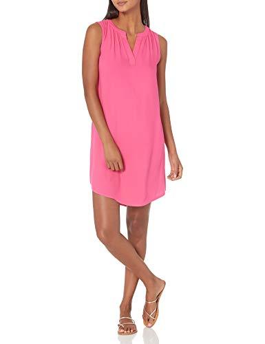 Amazon Essentials Sleeveless Woven Shift dresses, Kräftiges Rosa, S