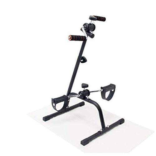WGFGXQ Mini ejercitador de Pedales de Bicicleta estática, máquina de Ejercicios para Brazos y piernas, ejercitador Sentado Bicicleta de Pedal estacionaria Bicicleta de Ciclo portátil Gimnasio Entre