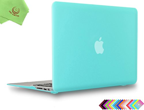 UESWILL Smooth Touch Matte Hard Shell Case Cover for 2009-2017 MacBook Air 13 inch (Model A1466/A1369), Turquoise