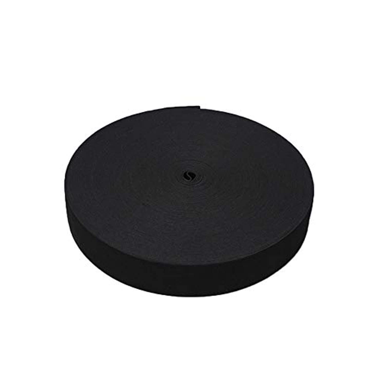 11 Yard White Knit Elastic Spool (1 Inch) (Black, 1 Inch x 11 Yard)