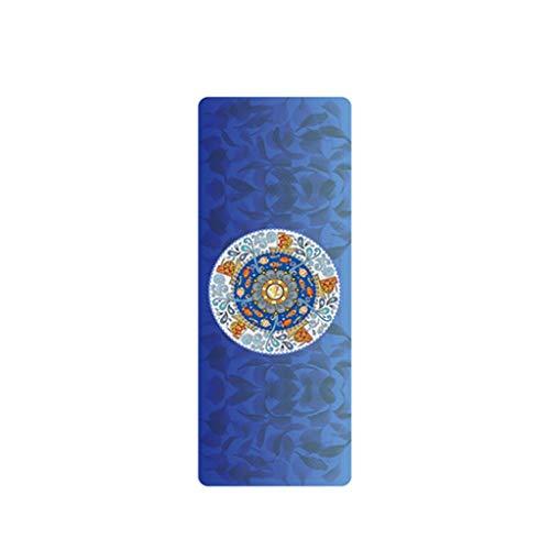 Yogamatte RENRUIRUI- Umweltfreundliche rutschfeste 1,5 Mm Ultradünne Reißfeste, Fortschrittlich Bedruckte Geeignet for Yoga Liebhaber Fitness Größe: 183x68cm (Color : D)