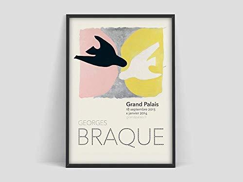 Impresión de exposición de Georges Braque, póster de exposición, cubismo, póster de impresión de Georges Braque, pintura en lienzo sin marco T 20x30cm