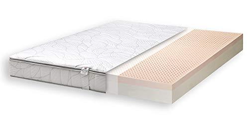 Primo Line Colchón Memory Lux Látex 100% Altura 20cm 7 Zonas Firme Densidad 70kg/m³ Funda Extraíble Antiacaros (90 x 190 x 20cm)