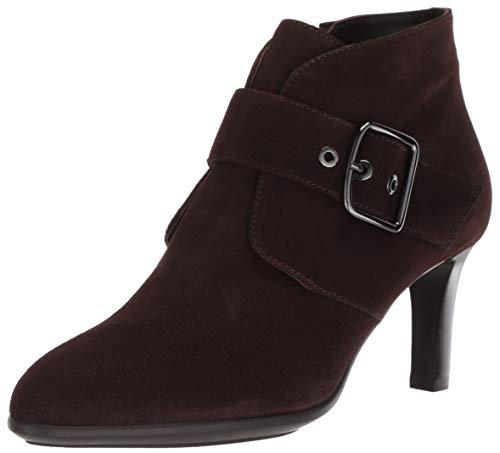 Aquatalia Women's Deena Dress Suede Ankle Boot, Espresso, 7 M US