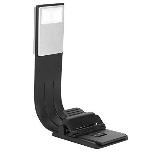 Luz de libro - Luz de libro de lectura LED regulable portátil Lámpara de clip flexible USB recargable para oficina en casa Blanco frío