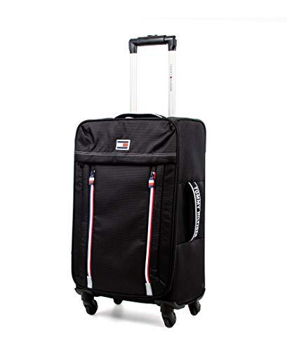 Tommy Hilfiger Casual XL Softside Spinner Luggage, Black