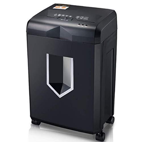 SCDFDJ 18L Elektro Home Office Gewerbe Elektro-High Power Shredder 4 Stufe Geheime Office-Automatik, Micro-Cut-Aktenvernichter, Schwarz