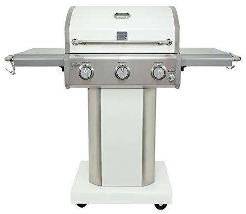 Kenmore PG-4030400LD-PE-AM 3 Burner Outdoor Patio Gas BBQ Propane Grill, Pearl Grills Propane