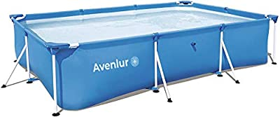 "Avenlur Steel Pro Rectangular Above Ground Swimming Pool (Pool Only) (118"" x 79"" x 26"")"