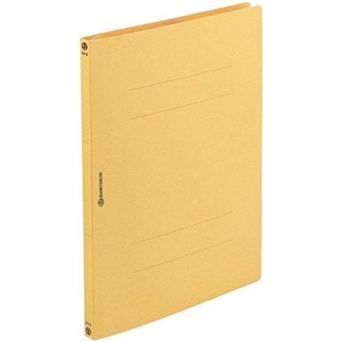 (まとめ買い)フラットファイル 紙バインダー 2穴 A4S 黄10冊 D017J-YL 【×20セット】