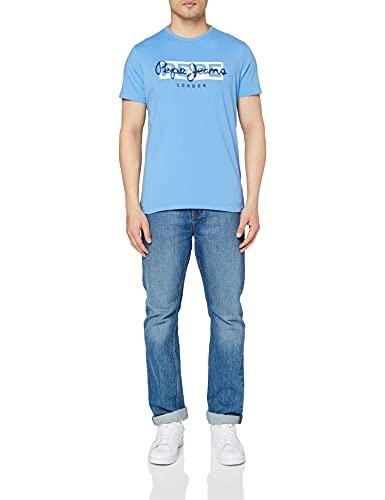 Pepe Jeans Herren GODRIC T-Shirt, 545bright Blue, M