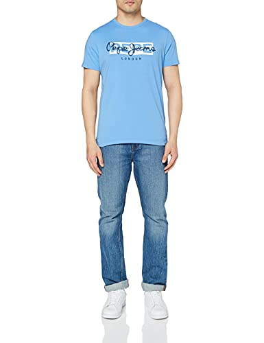 Pepe Jeans Godric Camiseta, 545bright Blue, XS para Hombre