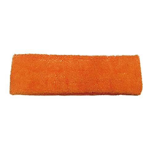 Cinta de Pelo Deportiva Cintas de Pelo Mujer Bandas para el Pelo para Hombres Banda de Sudor Banda para la Cabeza Hombre Banda de Pelo Orange,18cm