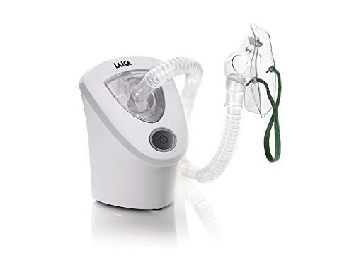 Laica MD6026 Inhalador-Nebulizador de ultrasonidos poco ruidoso, optimo para niños, fácil de usar, desconexión autmática, incluye transformador para la toda de red