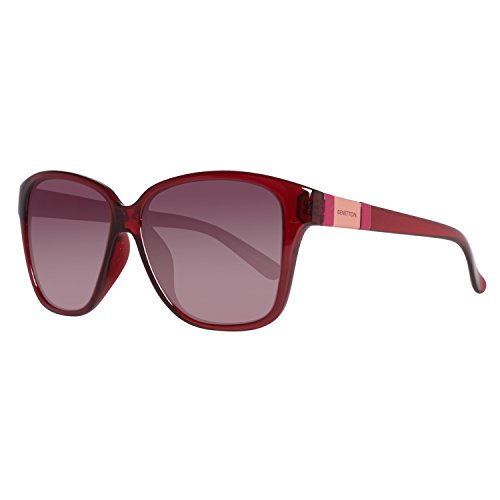 United Colors of Benetton Damen BE952S04 Sonnenbrille, Rot (Red), 56