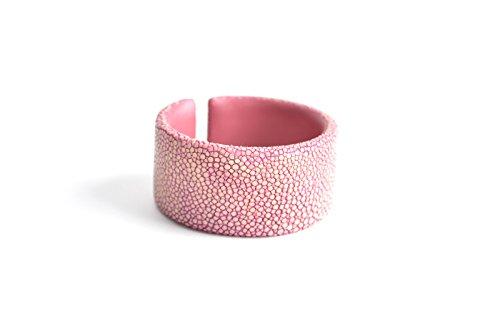 Armband 'Gigi' Rochenleder Armreifen Damen pink Arm-Reif Armspange Armschmuck für Frauen rosa