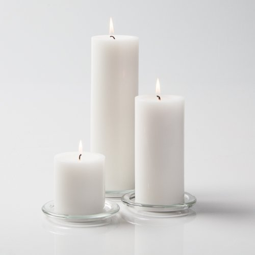 Richland Church Pillar Candles White 3'x3', 3'x6' & 3'x9' Set of 3
