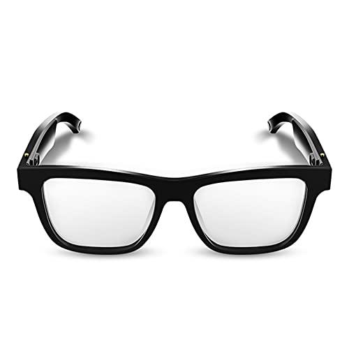 Gafas Inteligentes de Audio Bluetooth Música Inalámbrica Inteligente Gafas a Prueba de Luz Azul Bluetooth con Micrófono Integrado para Escuchar Música Y Llamadas Telefónicas para