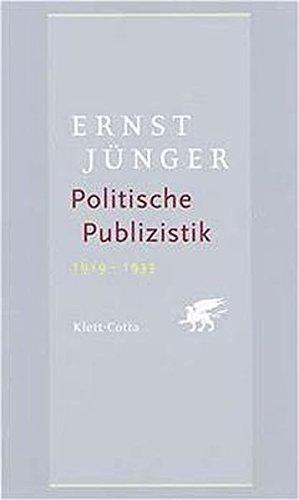 Politische Publizistik: 1919-1933