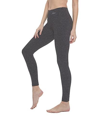 Nirlon Women's Leggings High Waist Workout Yoga Pants Ankle Length (Large, Charcoal)