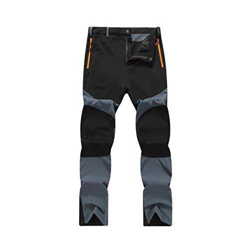 Pantalones de Trekking Hombre Pantalones de Softshell Pantalones Transpirable de Escalada Pantalones Impermeable Deportes Calentar Invierno Grueso Táctico Pantalones Xinan (L, Gris)