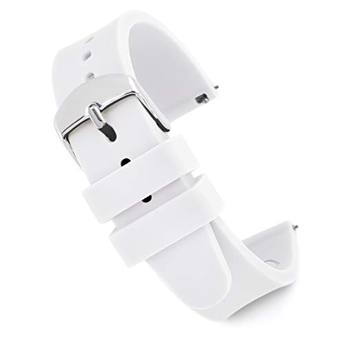 Speidel Scrub Watch Replacement 18mm White Silicone Rubber Band