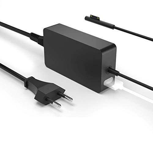 Surface Pro Ladegerät,Surface Laptop Ladekabel,44W 15V 2.58A Netzteiladapter kompatibel mit Microsoft Surface Pro 4/5 /6/7,Surface Laptop,Surface Book,mit USB Port und 6ft Netzkabel