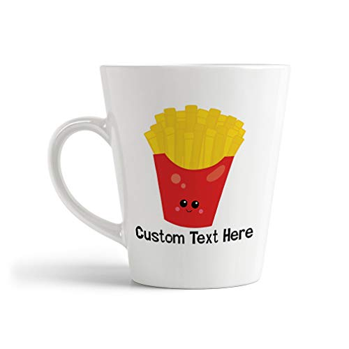 Ceramic Custom Latte Coffee Mug Cup French Fries Food and Beverages Vegetables Tea Cup 12 Oz Personalized Text Here