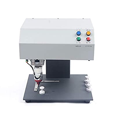 110V Table Type Electric Metal Marking Machine,Industrial Marking Machine,Nameplate Metal Label Stamping Printer Machine Automatic Marking Machine for Metal,Plastic,PVC 190×120mm