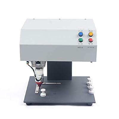 110V Table Type Electric Metal Marking Machine,Industrial Marking Machine,Nameplate Metal Label Stamping Printer Machine Automatic Marking Machine for Metal,Plastic,PVC 190×120mm