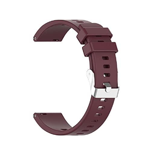 Frotox Correa Ajustable para Reloj Inteligente Honor ES Watch, Bandas de Reloj de Silicona con Hebilla Plateada para Mujeres y Hombres