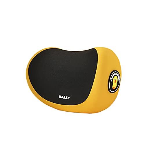 SHIFWE - Almohada de cuello para asiento de coche, almohada para reposacabezas de coche, almohada de viaje para el cuello, diseño de dibujos animados
