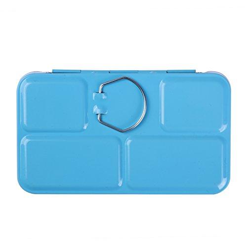 MEEDEN Empty Watercolor Tins Box Palette Paint Case, Small Blue Tin with 12 Pcs Half Pans