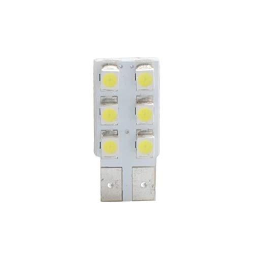 Planet Line PL083W Ampoules LED T10 W5W 6LED Smd3528 12V, Blanc, Set de 2