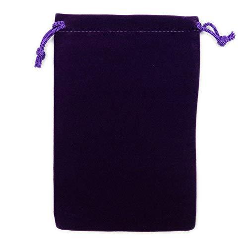 カラーポーチ 巾着袋 12×18cm 小物入れ ケース ソフトタイプ ベルベット スエード調 メガネポーチ サングラス 眼鏡 スマホ入れ スマートフォン アクセサリー用 (パープル)