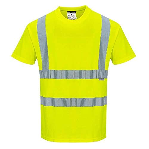 Portwest Portwest s170yerxxxl Baumwolle Komfort kurzärmeliges T-Shirt, Regular, Gr. 3X Große, gelb