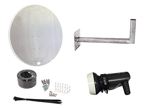 Satellitenschüssel 120 cm Schüssel mit Wandhalterung, Single LNB & Install Kit