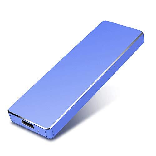 Disque Dur Externe 1to USB3.1 Disque Dur Externe pour PC, Mac, Ordinateur de Bureaup, Ordinateur Portable, Wii U, Xbox(1to, Bleu)